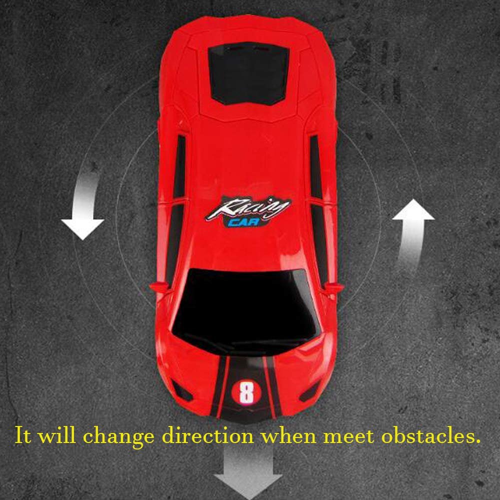Amazon.com: YEAM Lightning Electric Vehical Toy Race Car for Kids with Music, Goes Around and Changes Directions on Contact 360°Rotating: Toys & Games