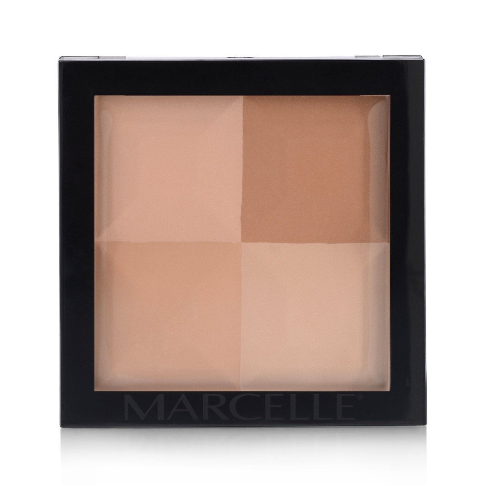 Marcelle Quad Pressed Powder, Dark, 12.8 Gram Marcelle group - Beauty 162309
