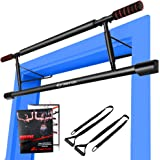 RIFFUE Chin up Bars, Pull Up Bar Multi-Gym Doorway Pull Up Sit Up Door Bar Total Upper Body Workout Bar Portable Gym System (