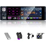 Single Din Car Radio with 4.1 Inch Touch Screen Multimedia Car Stereo Bluetooth Audio and Hands-Free Calling Car MP5 Player A