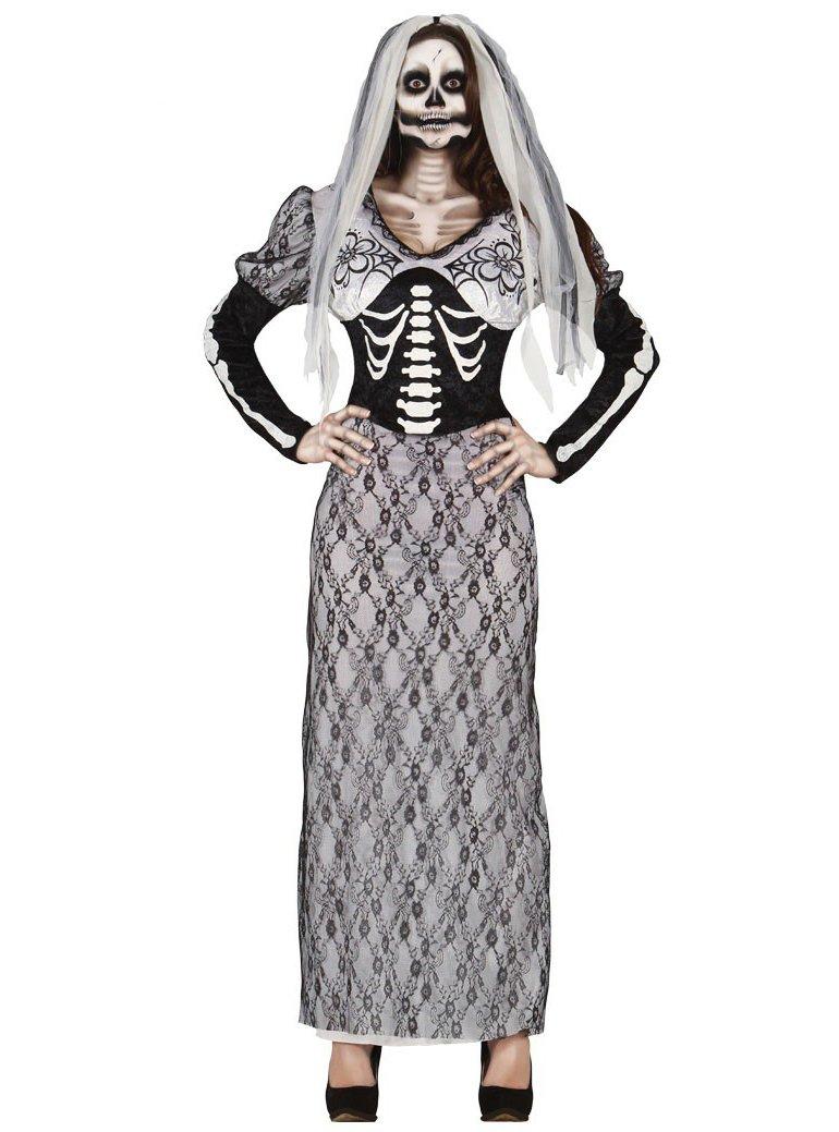 Disfraz de novia esqueleto para mujer - L: Amazon.es: Juguetes y ...