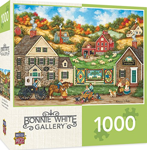 MasterPieces Hometown Gallery Great Balls of Yarn Wool Shop Jigsaw Puzzle by Bonnie White, (Ball Jigsaw Puzzle)