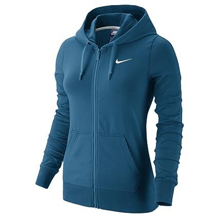 Amazon.com  NIKE Women s Jersey Full Zip Hoodie (Industrial Blue ... dfcba54486