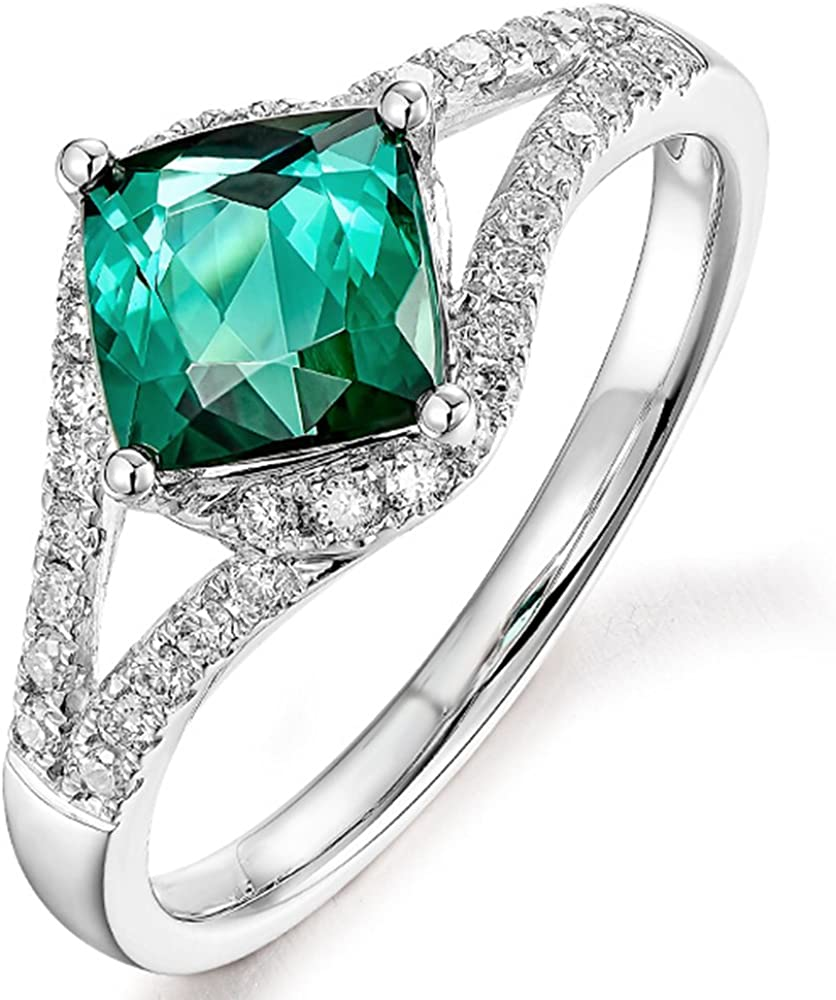 Created Wedding For Fashion Gold Color Tourmaline Ring Rings Jewelry Green