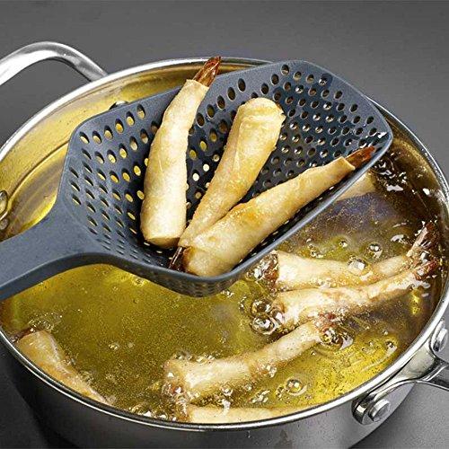 Copter shop Scoop Colander Nylon Spoon Strainer Kitchen Tool Cooking Utensils ShovelsTool Silicone Strainer Drain Noodles Pasta Scoop Basket (Color:Random)