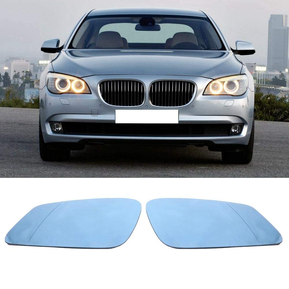 Car Mirror Glass,Left /& Right Door Side Heated Wing Mirror Glass Passenger and Driver Side Mirrors Replacement Fitment for 5 Series F07 F10 F11 51167251583