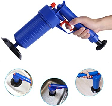 Air Power Drain Blaster Gun, High Pressure Powerful Manual Sink ...