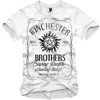 E1syndicate T Shirt Supernatural Mugshot Sam Dean Winchester Salt