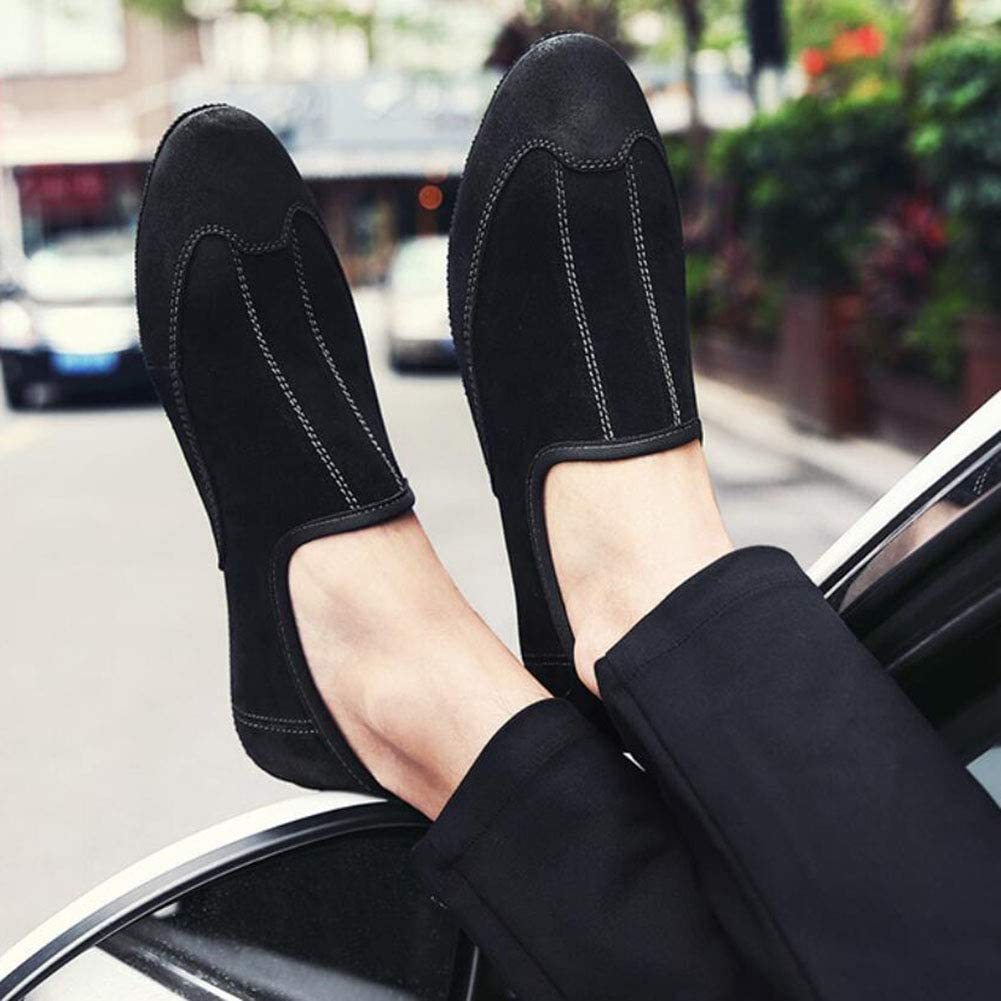Casual Stylish Loafers /& Slip-ONS Lazy Shoes//Peas Shoes//Walking Shoes Mens Shoes,Leather Spring//Fall Breathable Driving Shoes