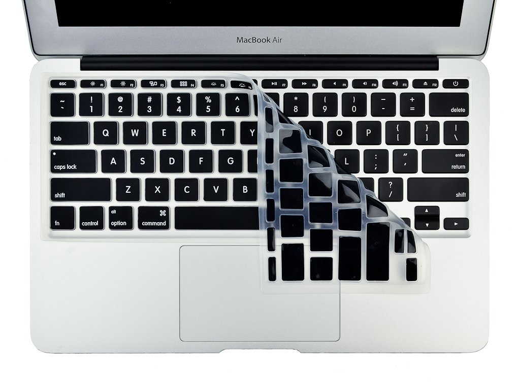 Kuzy - MacBook Air 11 inch Keyboard Cover for Models A1465, A1370 Silicone  Skin 11 6 inch - Black