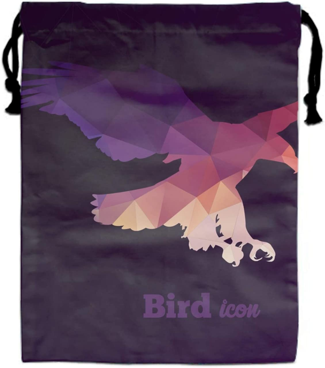 Colorful Animal Icon Of Triangles Eagle Drawstring Portable Storage Shoe Outdoor Travel Bag Dustproof Gift Bags