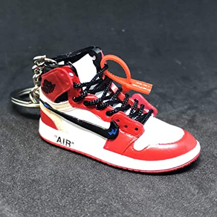 best website 1e30d 38a88 Amazon.com  Air Jordan 1 I High Retro Off White Chicago Bulls OG Sneakers  Shoes 3D Keychain Figure  Everything Else