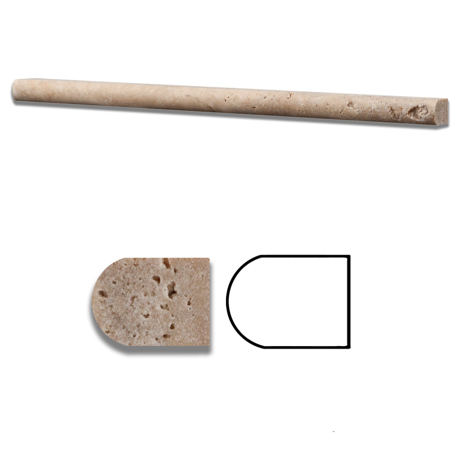 Travertine Chair Rail 2 X 12 Part - 43: Walnut Travertine Honed 1/2 X 12 Pencil Liner Trim Molding - Standard  Quality - BOX Of 15 PCS - Wood Moldings And Trims - Amazon.com