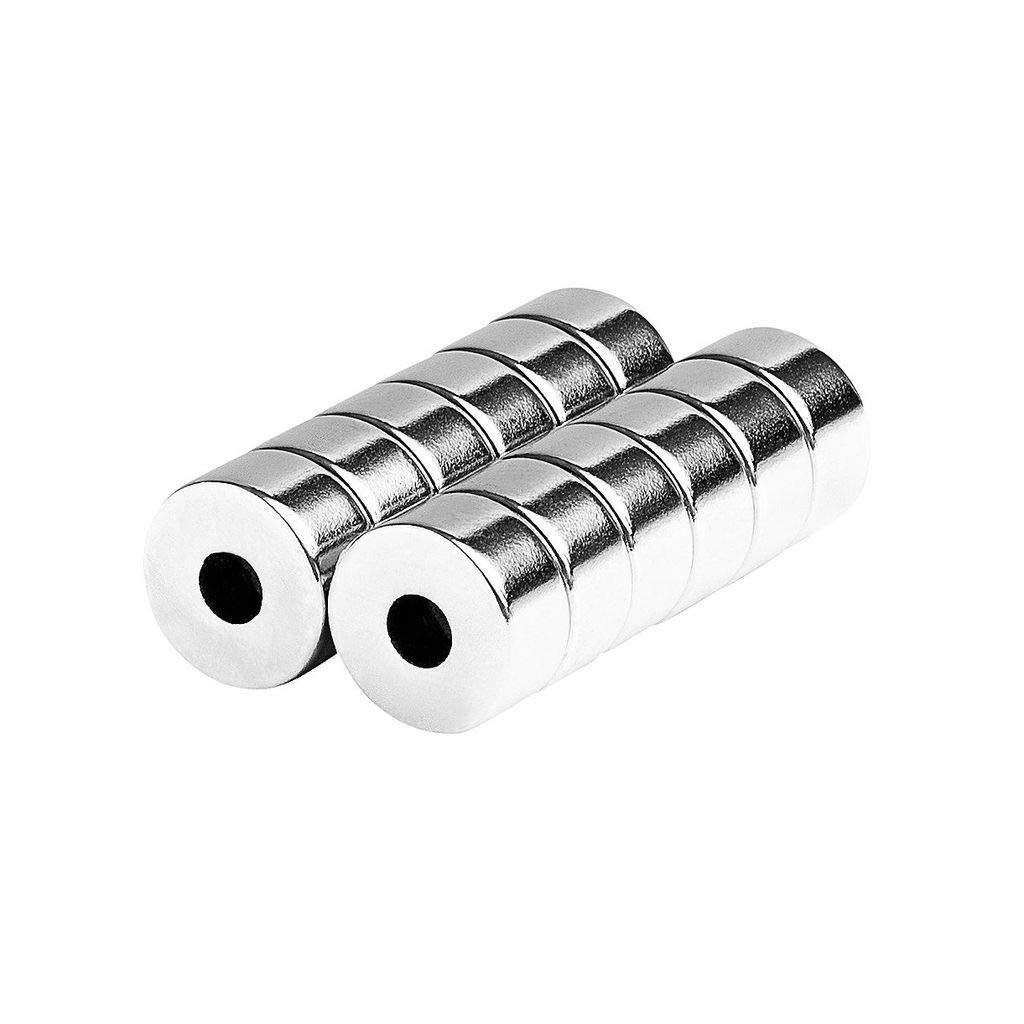 12 Pack aElement Universal Magnetic Ring 1//2x1//4 12x6mm Holder Fastener Multi-Use Countersunk Round Disc Magnets