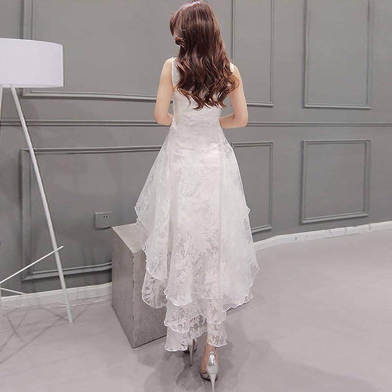 Vestido de Novia para Boda Blanco sin Mangas POLP Chaleco Largo ...