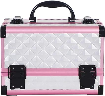 Maletín Para Maquillaje, Estuche de maquillaje, Estuche de cosméticos con Espejo Caja (Color : 3): Amazon.es: Belleza