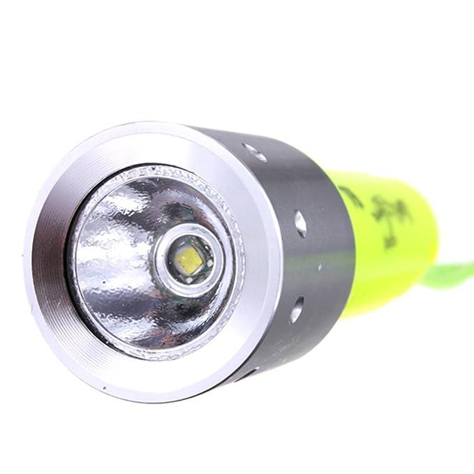 SODIAL 3000LM Band XML-T6 LED Lanttern Impermeable Submarinismo Submarinismo 18650 Linterna Divertida Lampara de luz de antorcha para buceo: Amazon.es: ...