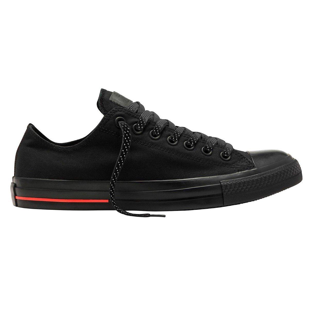 Converse Unisex Chuck Taylor All Star Low Top Black/Black/Lava Sneakers - 8 D(M)