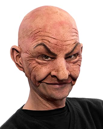 amazon com zagone studios johnny mask bald old man mask unisex