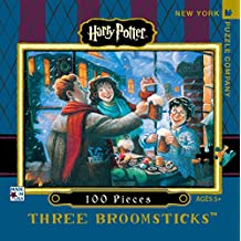 New York Puzzle Company - Harry Potter Three Broomsticks Mini - 100 Piece Jigsaw Puzzle