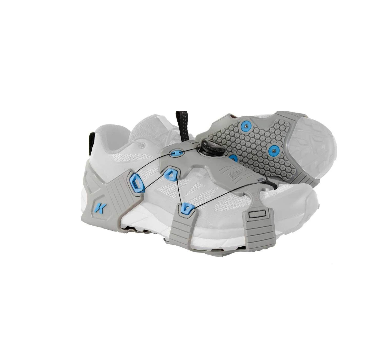 Korkers Ice Runner Cleats Large BOA Gray/Blue