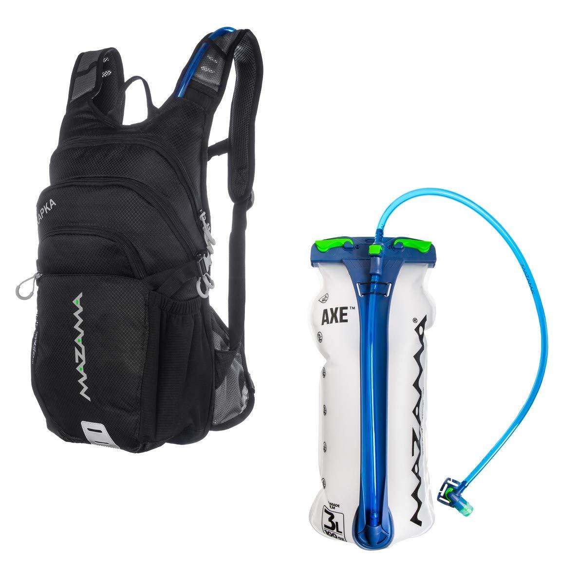 56c6ae89ce Amazon.com : Mazama Kapka Hydration Pack with 3 L Bladder (Black) : Sports  & Outdoors