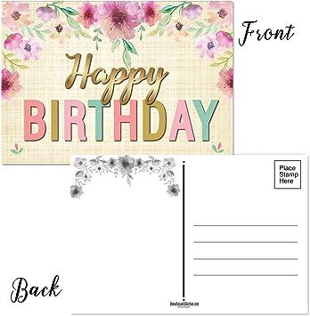 Amazon.com: 50 tarjetas de felicitación de cumpleaños – 5 ...
