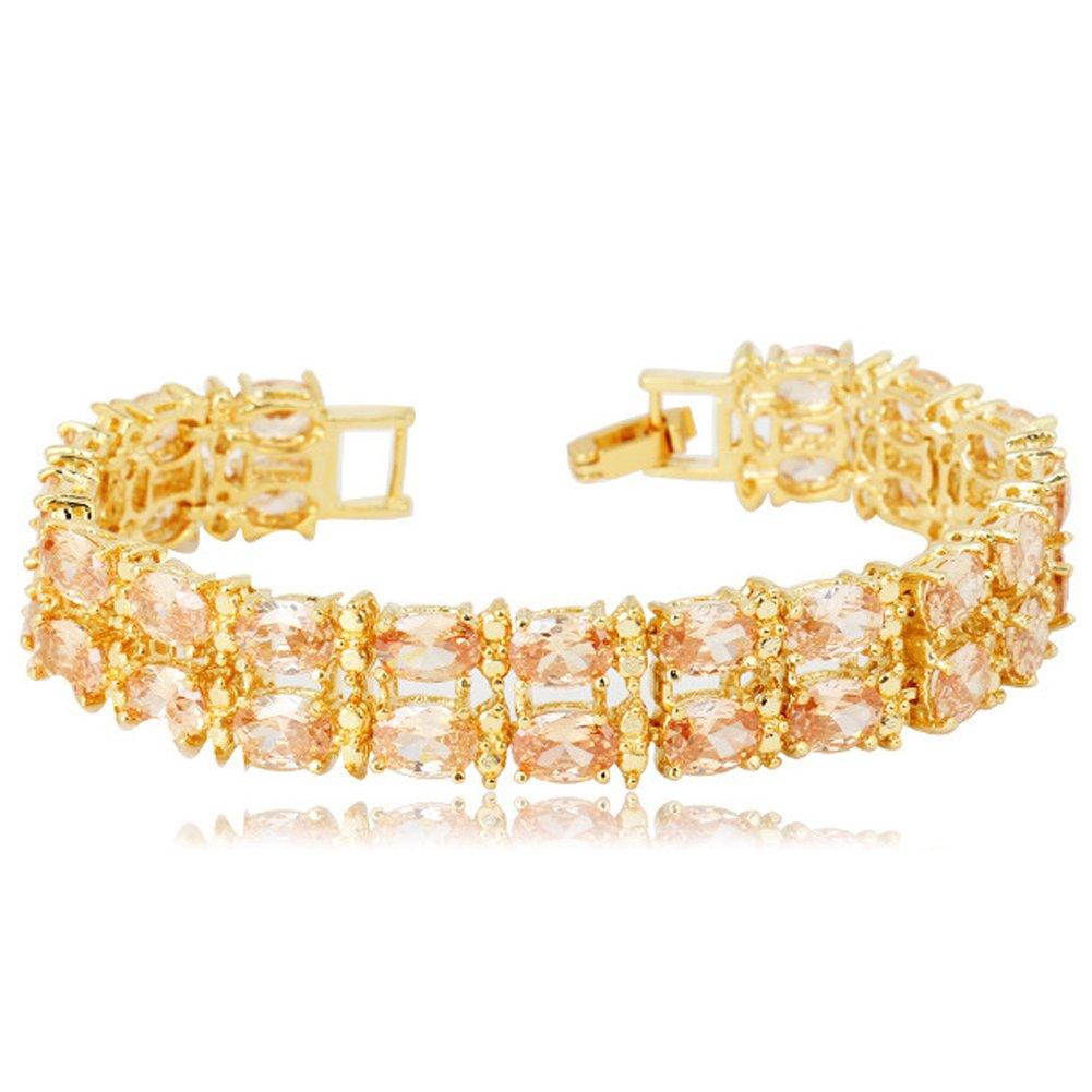 FEDONA Rose Gold Plated Brass Bracelet Cubic Zirconia Jewelry Women Gifts Women Gifts Girlfriend Wife Daughter Mom Friend