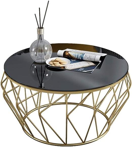 mesas de Centro Modernas Mesa de Centro Redonda de Cristal del ...