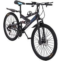 Doble suspensi/ón para Hombres y Mujeres YKMY Bicicletas de Bicicleta de monta/ña de Carretera de 24 Pulgadas 26 Pulgadas para Hombres y Mujeres para Adultos