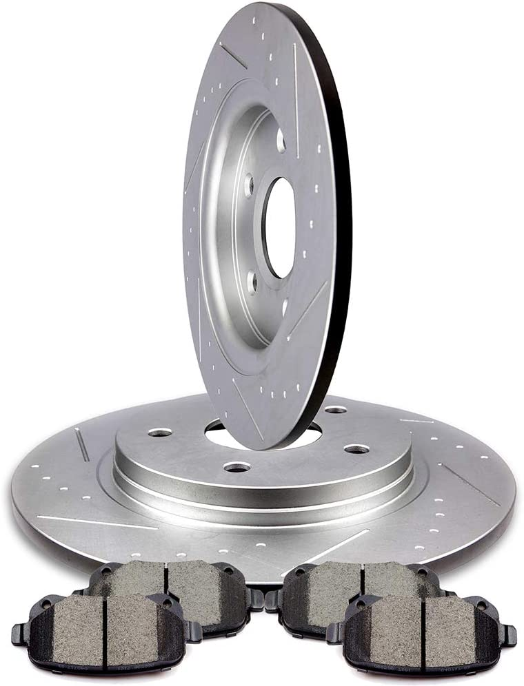 Rear Rotors For 2009 2010 2011-2013 TOWN COUNTRY GRAND CARAVAN JOURNEY ROUTAN