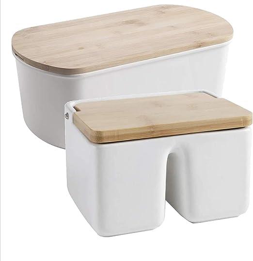 Bittamina Pack Cocina: Salero de Doble Compartimento y Panera con ...