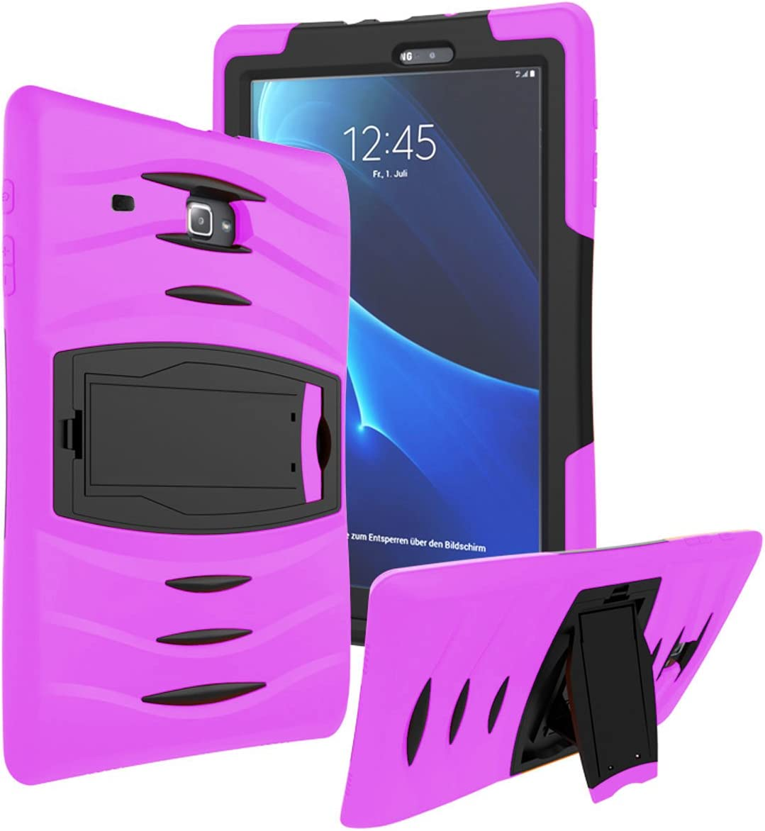 Galaxy Tab A 7.0 SM-T280 2016 Case by KIQ Full-Body Shock Proof Hybrid Heavy Duty Armor Protective Case for Samsung Tab A 7-inch [T280 & T285] (Armor Hot Pink)