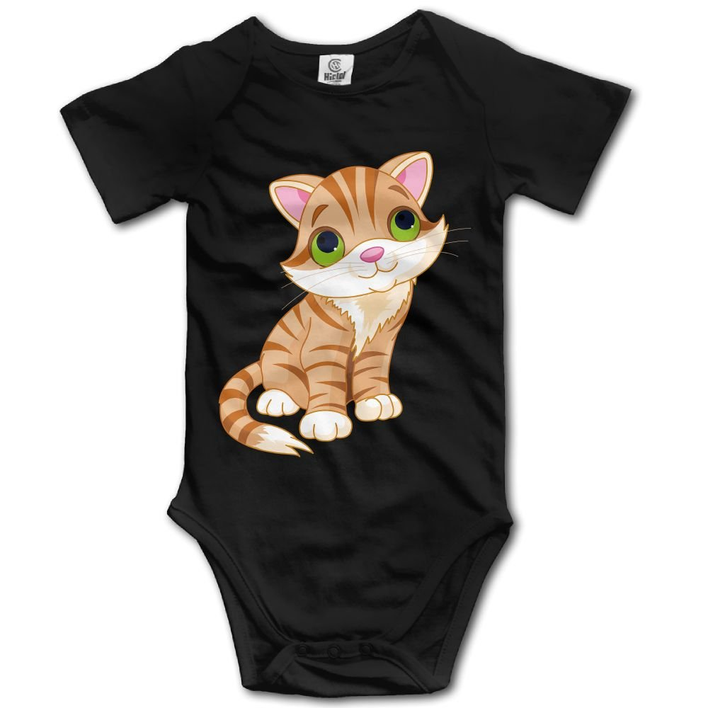Jaylon Baby Climbing Clothes Romper Yellow Cat Infant Playsuit Bodysuit Creeper Onesies Black