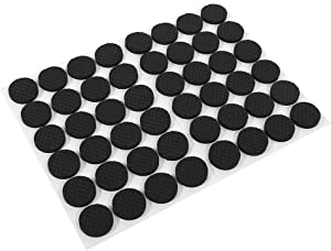 Zerodis 48Pcs Furniture Pads, Rubber Feet Pads Furniture Protectors for Cabinets Self Stick On Chair Pads Floor Protection Black