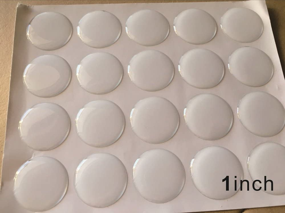 Clear Epoxy Bottle Cap Sticker 100pcs Dome Round Adhesive Dots For Diy Crafting