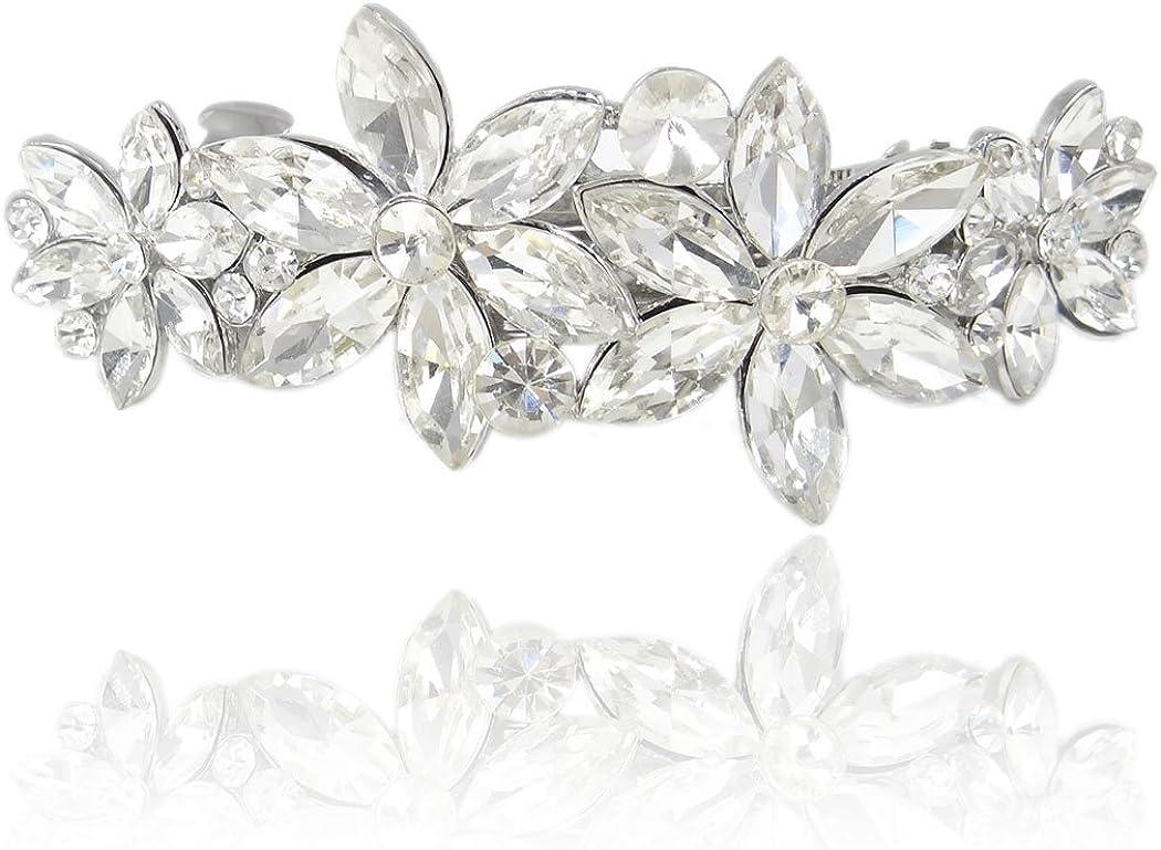 TENYE Cristal Autrichien Cr/ème Perle Artificielle /Él/égant Mari/é Collier+Boucles dOreilles+Bracelet Parures Clair Ton dargent