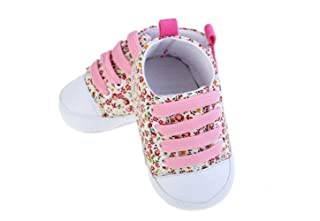 Applied Bathroom Accessories Baby Girl Anti-Slip Canvas Sneaker (Pink) (Color : Pink, Size : One Size) Jinsun