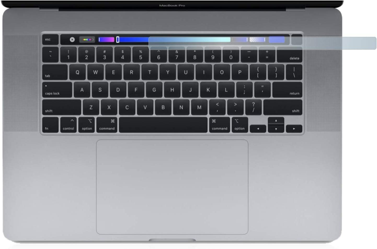 Touch Bar upscreen Hybrid Glass Panzerglas Schutzfolie kompatibel mit Apple MacBook Pro 16 2019 9H Panzerglas-Folie