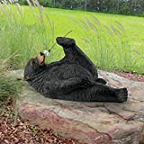 Design Toscano Smell The Flowers Garden Bear Statue, Full Color Review