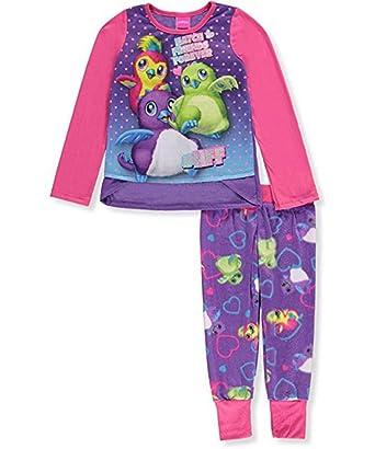 bbf15ae5f126 Amazon.com  Hatchimals Little Big Girls 2-Piece Pajama Set  Clothing