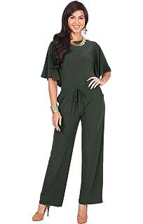 03b3b8f6e1209 Koh Koh Womens Short Sleeve Long Pants Suit Jumpsuit Playsuit One Piece  Romper