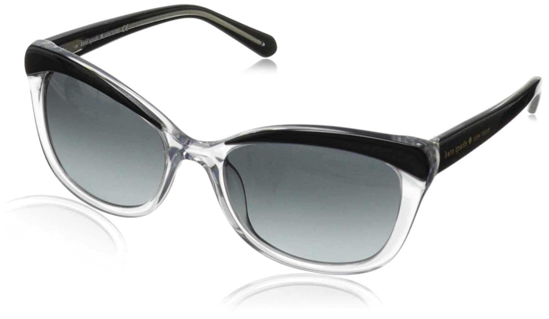 kate spade new york Women's Amara Cat-Eye Sunglasses Black Blush Tortoise 55 mm Amaras
