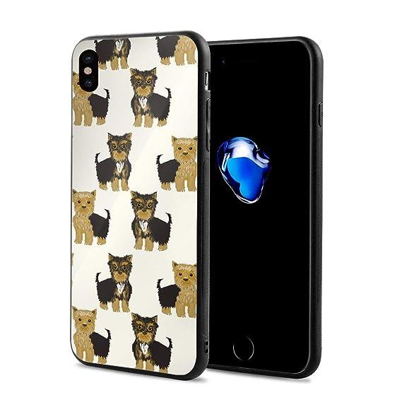 feb5b8f2b3 Amazon.com: iPhone X Case Yorkshire Terrier Cute Yorkie Dog Pet ...