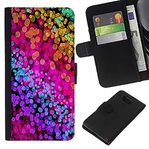 Planetar® Modelo colorido cuero carpeta tirón caso cubierta piel Holster Funda protección Para Samsung ALPHA / SM-G850 / S801 ( Color Splash Neon Watercolors )