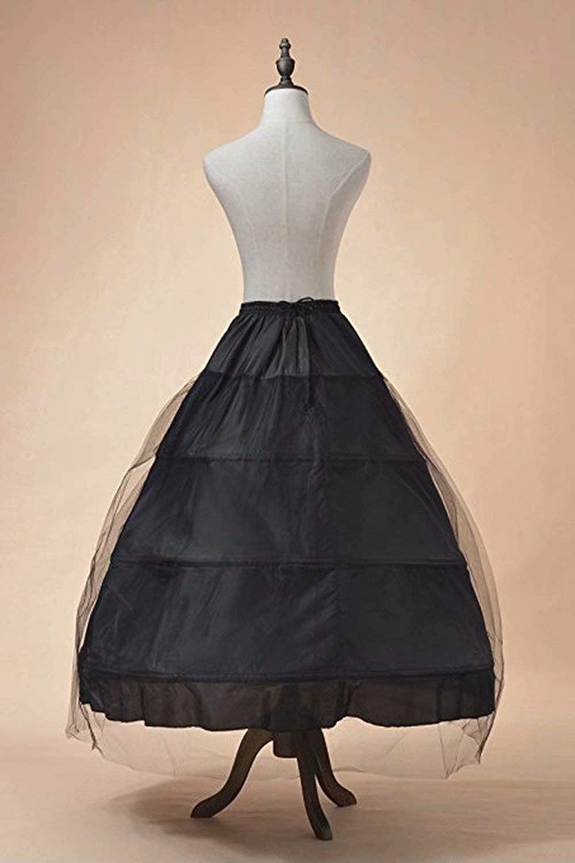 MisShow Reifrock A Linie 3 Ringe Petticoat Unterrock Lang Kleid