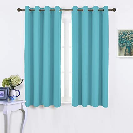 galleries insulated room single flamingop darkening long solid curtains curtain drape top panel pattern short grommet ylzosnj blackout