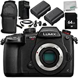 Panasonic Lumix DC-GH5S Mirrorless Micro Four Thirds Digital Camera (Body Only) 8PC Bundle – Includes 64GB SD Memory Card + MORE - International Version (No Warranty)