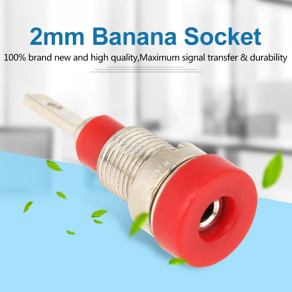 Mixed Color Test Probe Speaker Terminal Binding Post Banana Plug Jack Socket Connector 5 Pcs Banana Socket 2mm Panel Mount Banana Socket