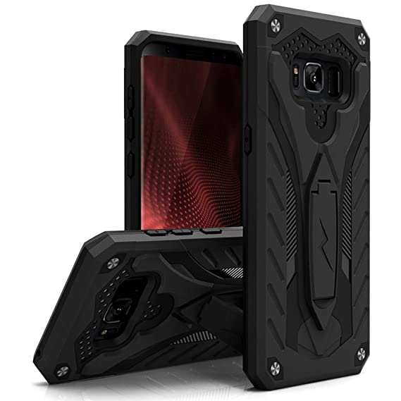the best attitude 121e3 49bf6 Zizo Static Series Compatible with Samsung Galaxy S8 Case Military Grade  Drop Tested with Built in Kickstand Black